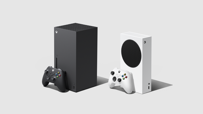 The Xbox Series X and the smaller Xbox Series S.