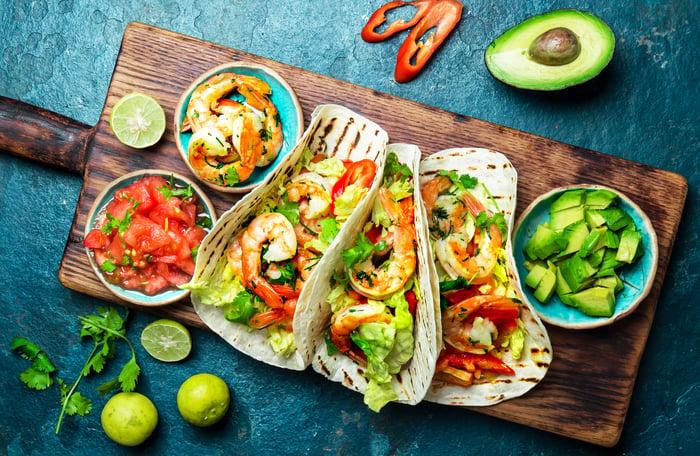 Various tacos.