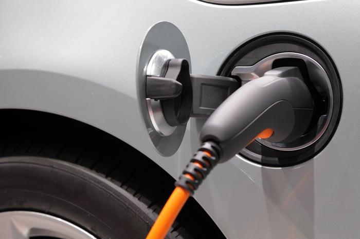 Electric car battery plug.