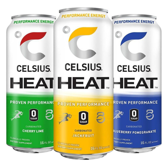 3 cans of Celsius Heat