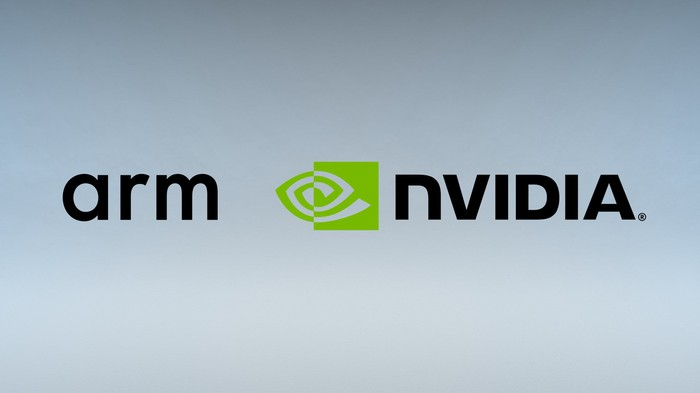 Arm and NVIDIA logos next to each other