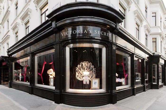 Victoria's Secret storefront on New Bond Street in London.