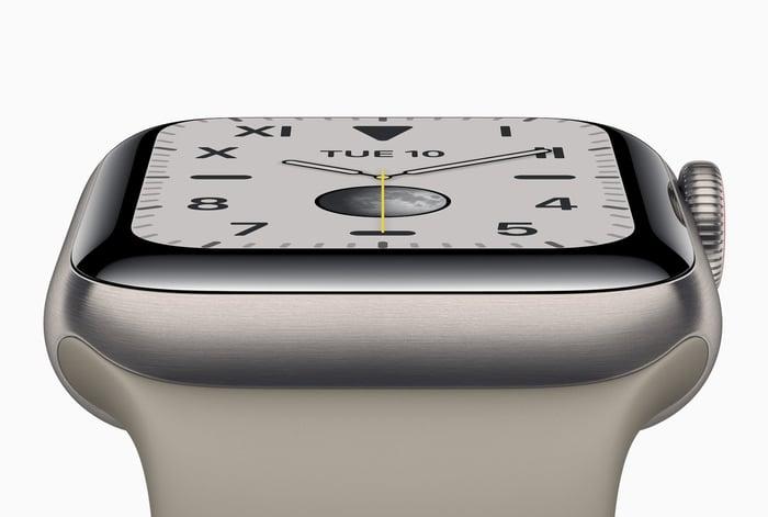 Apple Watch close up.