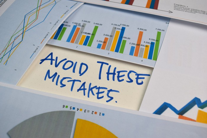 Avoid These Mistakes is written out in the middle of several graphs.