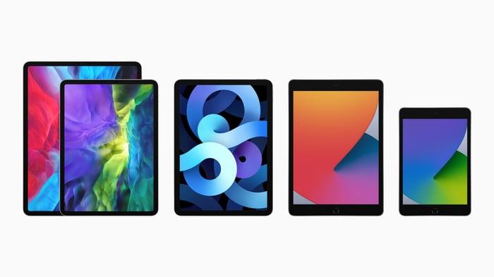 Apple's lineup of iPads.
