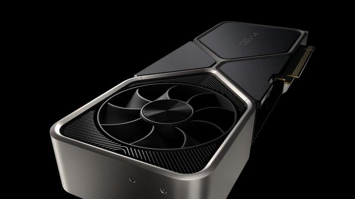 NVIDIA's GeForce RTX 3080.