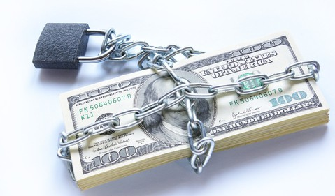 Money Under Chain and Lock Debt Getty