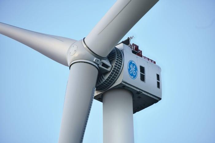 A GE Haliade turbine.