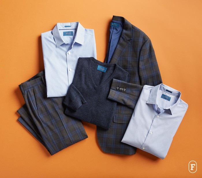 Folded shirts and trousers