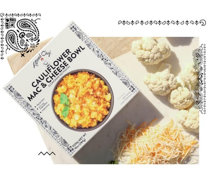Tattoed Chef Cauliflower Mac and Cheese Bowl banner ad