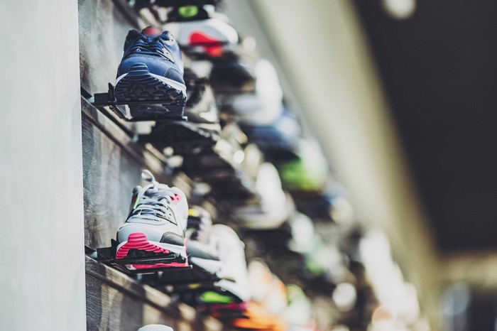 Shoes on the wall