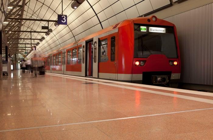 S-Bahn train in Hamburg station