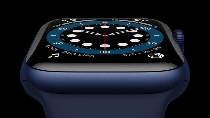 Apple Watch Series 6 in blue