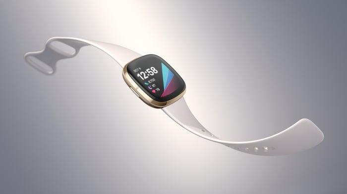 Fitbit Sense in white