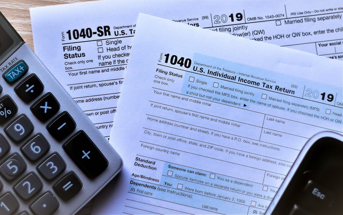 Tax Form 1040 and 1040 SR
