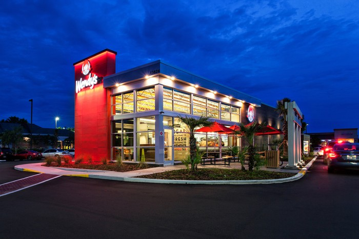 Exterior of a Wendy's restaurant