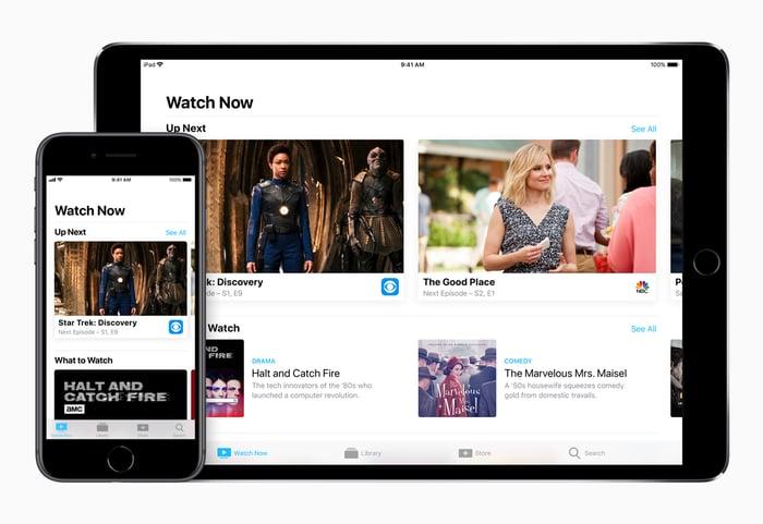 Apple TV app on iPhone and iPad