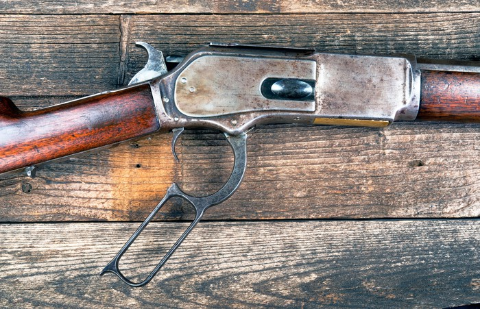antique lever-action rifle