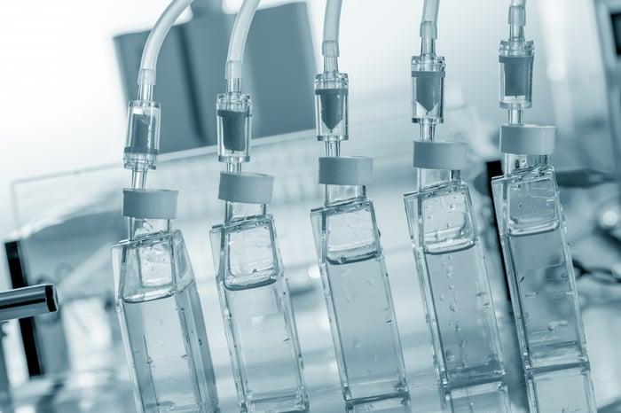 Bioreactors in a laboratory.