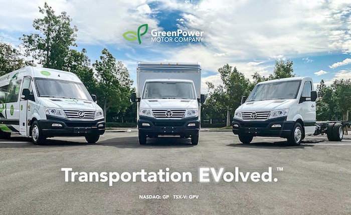 Electric buses, vans, and vehicles from GreenPower Motors.