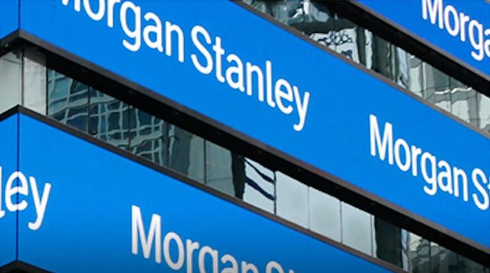 Morgan Stanley signs.