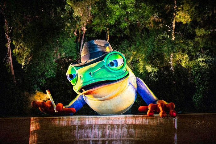 The Singing Frog animatronic at a Wynn Resorts show.