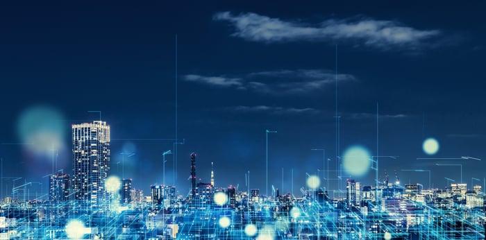 city night lights with lighting solutions digitally enhanced