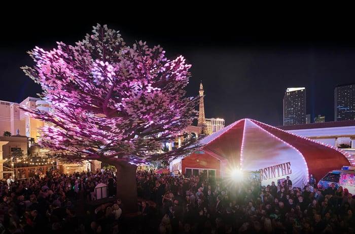 The Spiegeltent, venue for Las Vegas' Absinthe show.