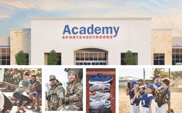 A store of the sporting goods store Academy Sports and Outdoors.