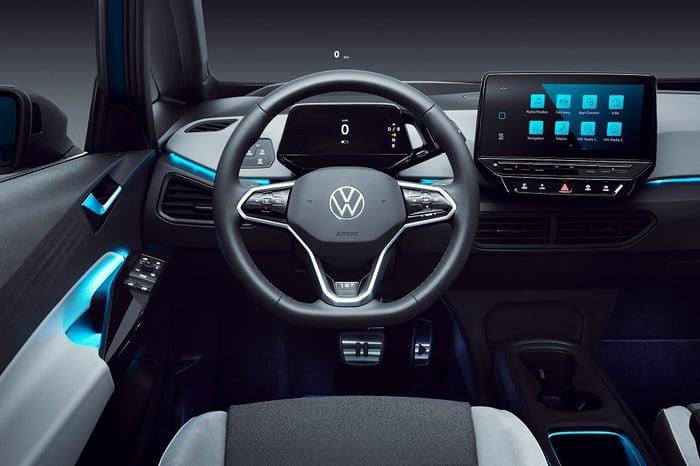 Interior of a Volkswagen ID3