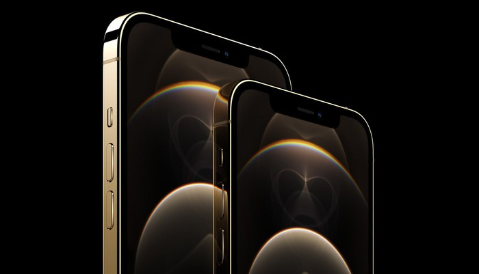 iPhone 12 Pro and 12 Pro Max in gold