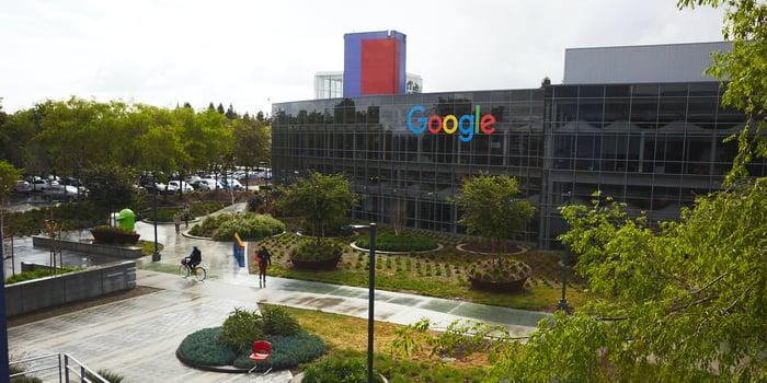 Exterior of Googleplex, Google's corporate headquaters