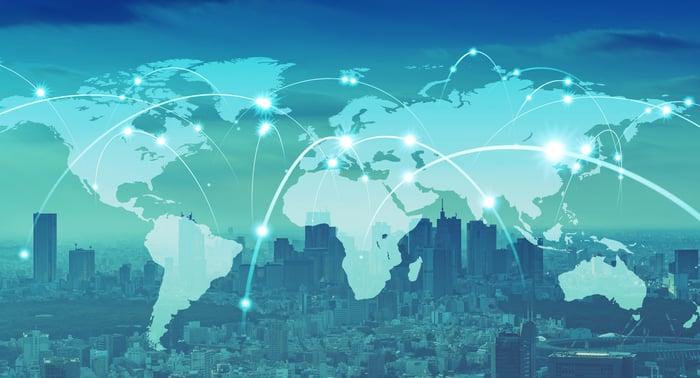 A global network illustration.