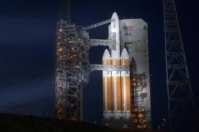 NROL-44 on its launch pad.