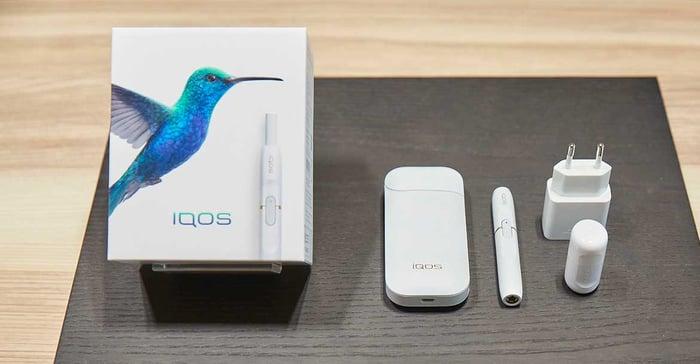Philip Morris IQOS packaging and equipment
