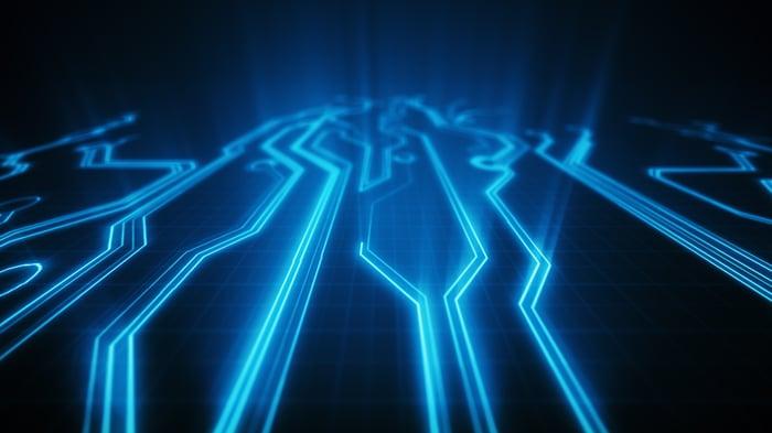 Illuminated circuits.