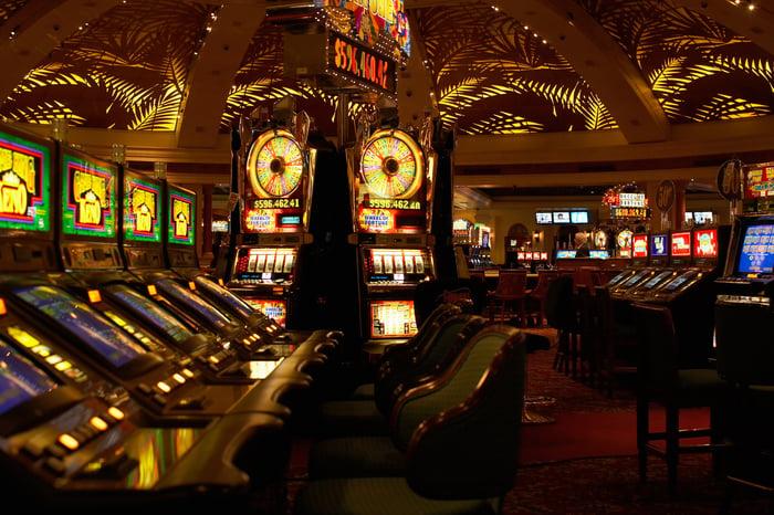 An empty casino.