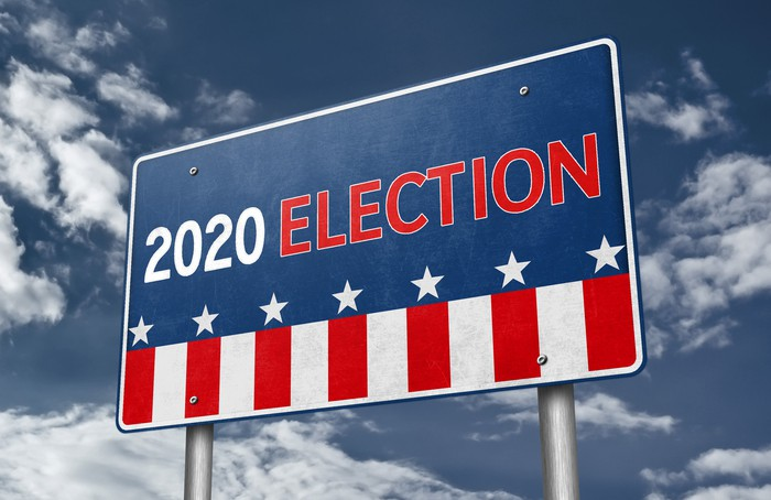 2020 Election road sign
