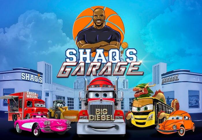 Promotional image for Shaq's Garage.