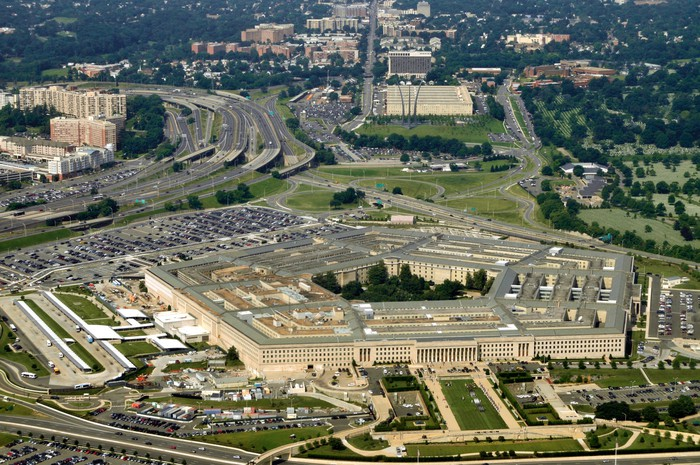 Aerial shot of the Pentagon.