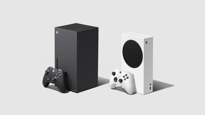 Microsoft's Xbox Series X and Series S.