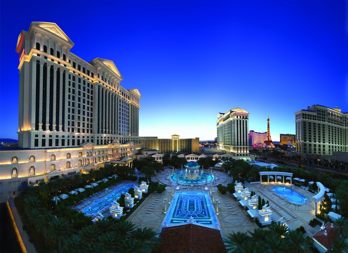 """The """"pool oasis"""" at Caesars Palace Garden of the Gods."""