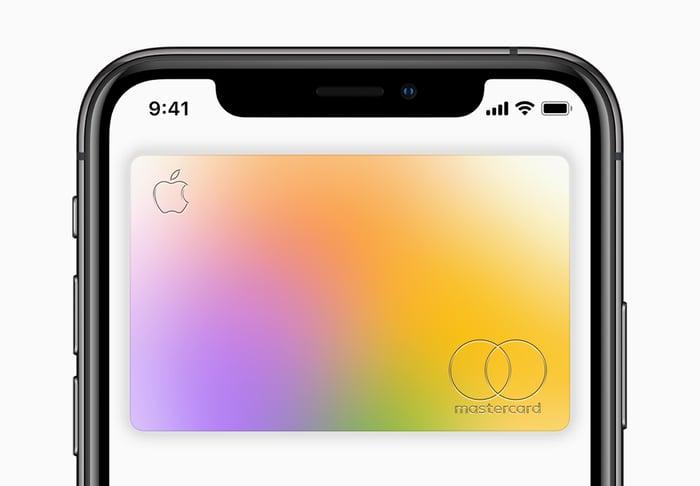Apple Card on an iPhone