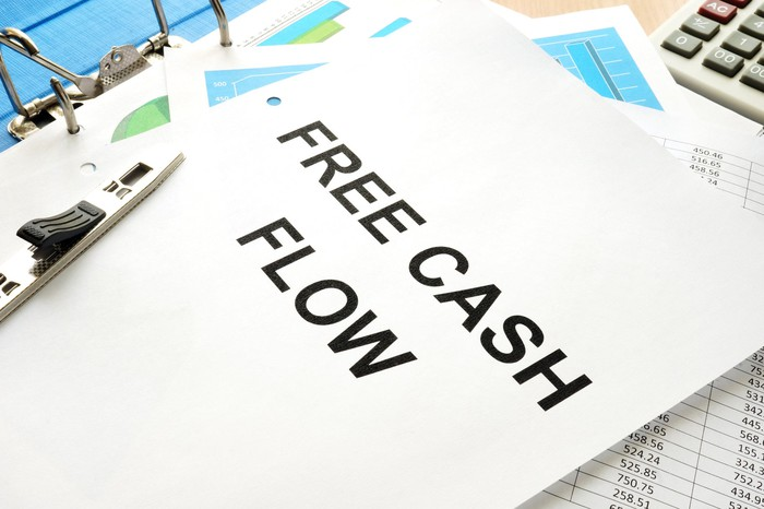 A paper outlining free cash flow