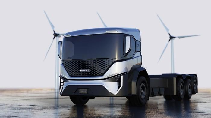 A Nikola truck prototype.