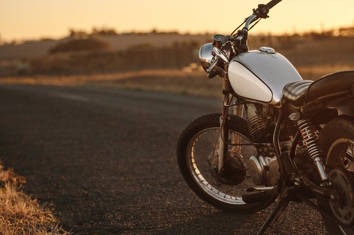 A motorcycle.