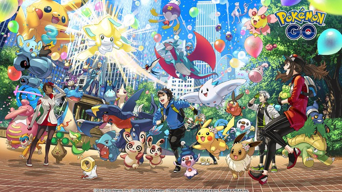 A large group of Pokemon characters.