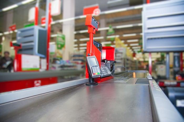 Store checkout station