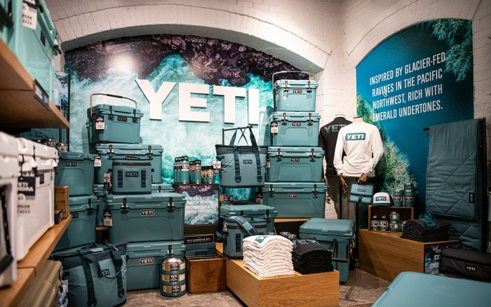 Yeti products in a store in Dallas.