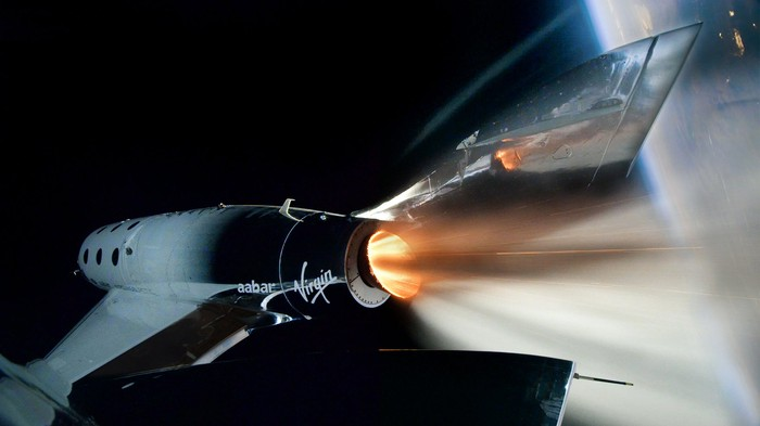 Virgin Galactic VSS Unity Rockets to Space on Historic First Spaceflight.